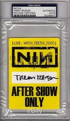 TRENT REZNOR Nine Inch Nails Signed 2005 Concert Backstage Pass PSA/DNA SLABBED