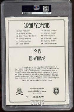 Ted Williams Perez Steele Great Moments Signed PSA DNA Slabbed Red Sox ID310598