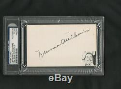 Tennessee Williams Autographed Signed Index Card 3x5 Psa Dna Slabbed Certified