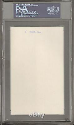 The Beatles GEORGE HARRISON Signed Autographed Index Card Slabbed PSA/DNA & JSA