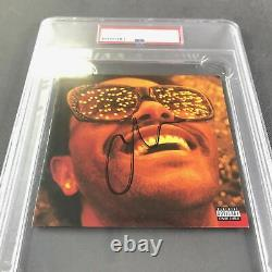 The Weeknd Signed CD Cover PSA/DNA Encapsulated Autographed Slabbed