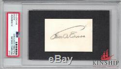 Thomas Edison signed cut PSA DNA Slabbed Auto Inventor Rare D. 1931 C421