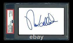 Tom Selleck Signed Mint Index Card Psa/dna Slabbed Autographed Magnum P. I