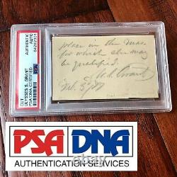 ULYSSES S. GRANT PSA/DNA Slab Autograph Note Signed As President Handwritten