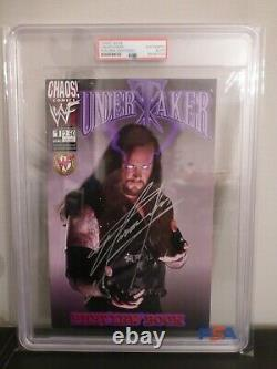 Undertaker PSA/DNA Certified Signed Autograph Auto Slabbed Comic Book Preview Ed