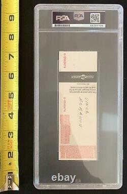 VINCE MCMAHON Signed 1995 WWF Hall Of Fame Ceremony UNUSED TICKET PSA DNA Slab