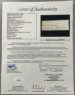 Vince Lombardi Signed Check Football HOF Autograph Packers JSA LOA Slab PSA/DNA
