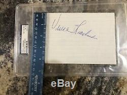 Vince Lombardi Signed Slabbed Psa/Dna Certified Paper Packers Autographed