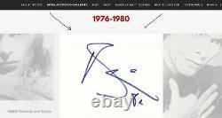 Vintage 1980 David Bowie Signed Autographed Slabbed Index Card Psa/dna Coa