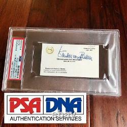 WERNHER VON BRAUN PSA/DNA Slabbed Autograph Card Signed Full Signature