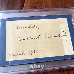 WINSTON S. CHURCHILL PSA/DNA Slab Autograph Inscribed Cut Card Signed