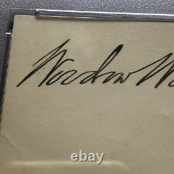 WOODROW WILSON PSA/DNA Slabbed Autograph White House Card Signed
