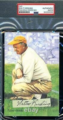Walt Kiesling PSA DNA Coa Autograph 1938 Signed Slabbed Goal Line Card Cut