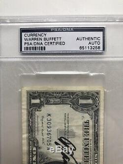 Warren Buffett Signed 1957 Silver Certificate Currency Rare Psa/dna Slabbed