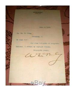 William McKinley Autograph Typed Letter PSA/DNA Slabbed Highly Presentable