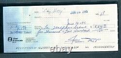 Willie Mays Signed Check Autograph Slabbed NY San Francisco Giants HOF PSA/DNA