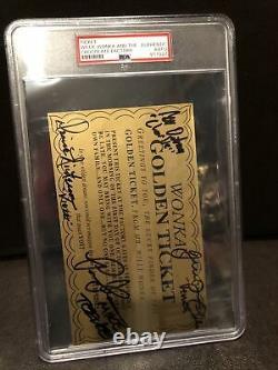 Willy Wonka All Kids X4 Signed Golden Ticket Slabbed Movie Cast PSA/DNA