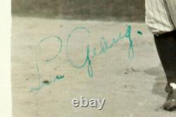 Yankees Lou Gehrig Authentic Signed 4x5 Black & White Photo PSA/DNA Slabbed