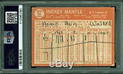 Yankees Mickey Mantle Signed 1964 Topps #50 Card Auto Graded 8 PSA/DNA Slabbed
