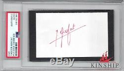 Yasser Arafat signed 3x5 cut PSA DNA Slabbed Auto d. 2004 Palestine C400